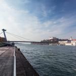Jesenná krajina - Bratislava z pravej strany Dunaja