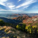 Jesenná krajina - Výhľad zo Suchého v Malej Fatre