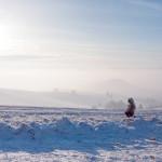 Zimná krajina nad Jasenovom