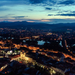 Letná krajina v Trenčíne