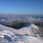 Zimná krajina z vrcholu Chleb