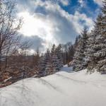 Zimná krajina nad Vrútkami