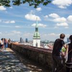 Letná krajina pri Bratislavskom hrade