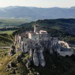 Spišský hrad z lietadla