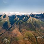 Vysoké Tatry z lietadla