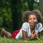 Sofia Lilgová portrét v parku
