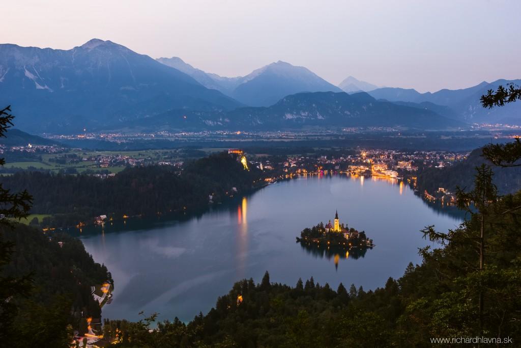 Bled, Slovinsko, Po západe slnka