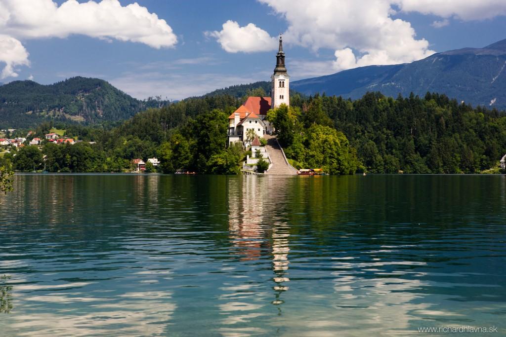 Bled, Slovinsko, Ostrov na jazere