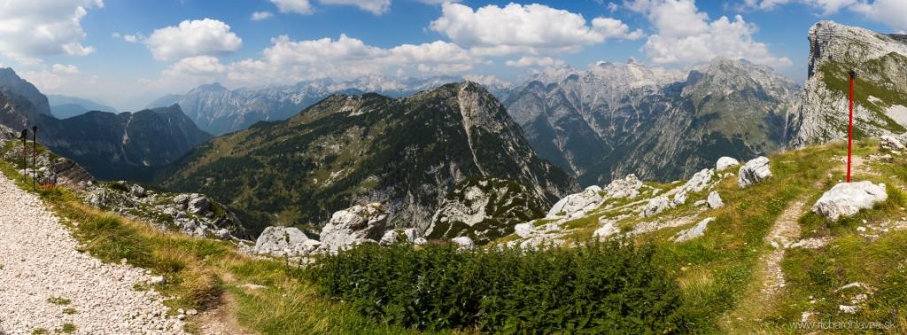 Zasavska chata na Prehodavcich, Slovinsko, Panoráma