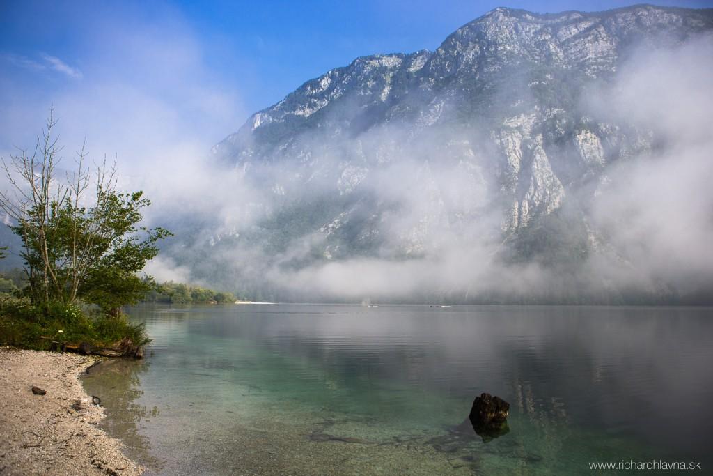 Bohinj, Slovinsko, Augustové ráno