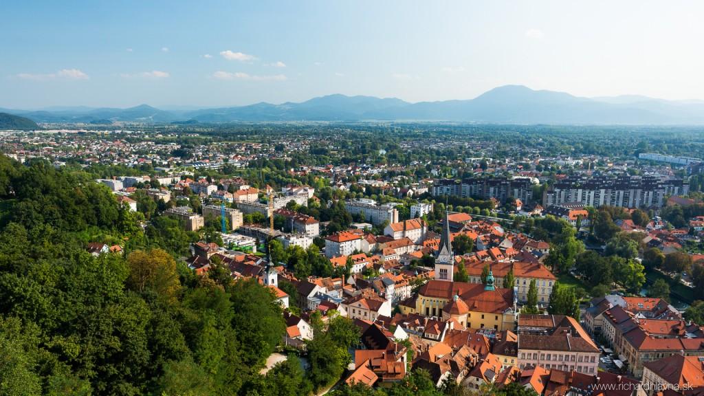 Ľubľana, Slovinsko, Panoráma z hradu