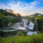 Plivský vodopád a mesto Jajce